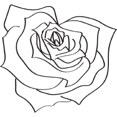 rose coloring pages games free - photo#11
