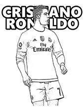 Dibujos De Cristiano Ronaldo Para Colorear Dibujosonlinenet