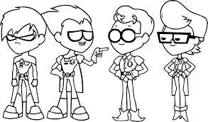 Dibujos De Los Jovenes Titanes Para Colorear Dibujosonlinenet