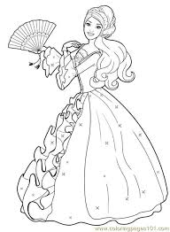 Dibujos De Barbie Para Colorear Dibujosonlinenet