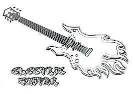 Dibujos De Guitarra Elãctrica Para Colorear Pintar E