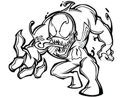 Dibujos de Venom Marvel para Colorear, Pintar e Imprimir