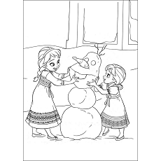 Dibujos De Anna Para Colorear Dibujosonlinenet