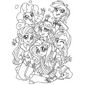 Dibujos De My Little Pony Para Colorear Dibujosonlinenet