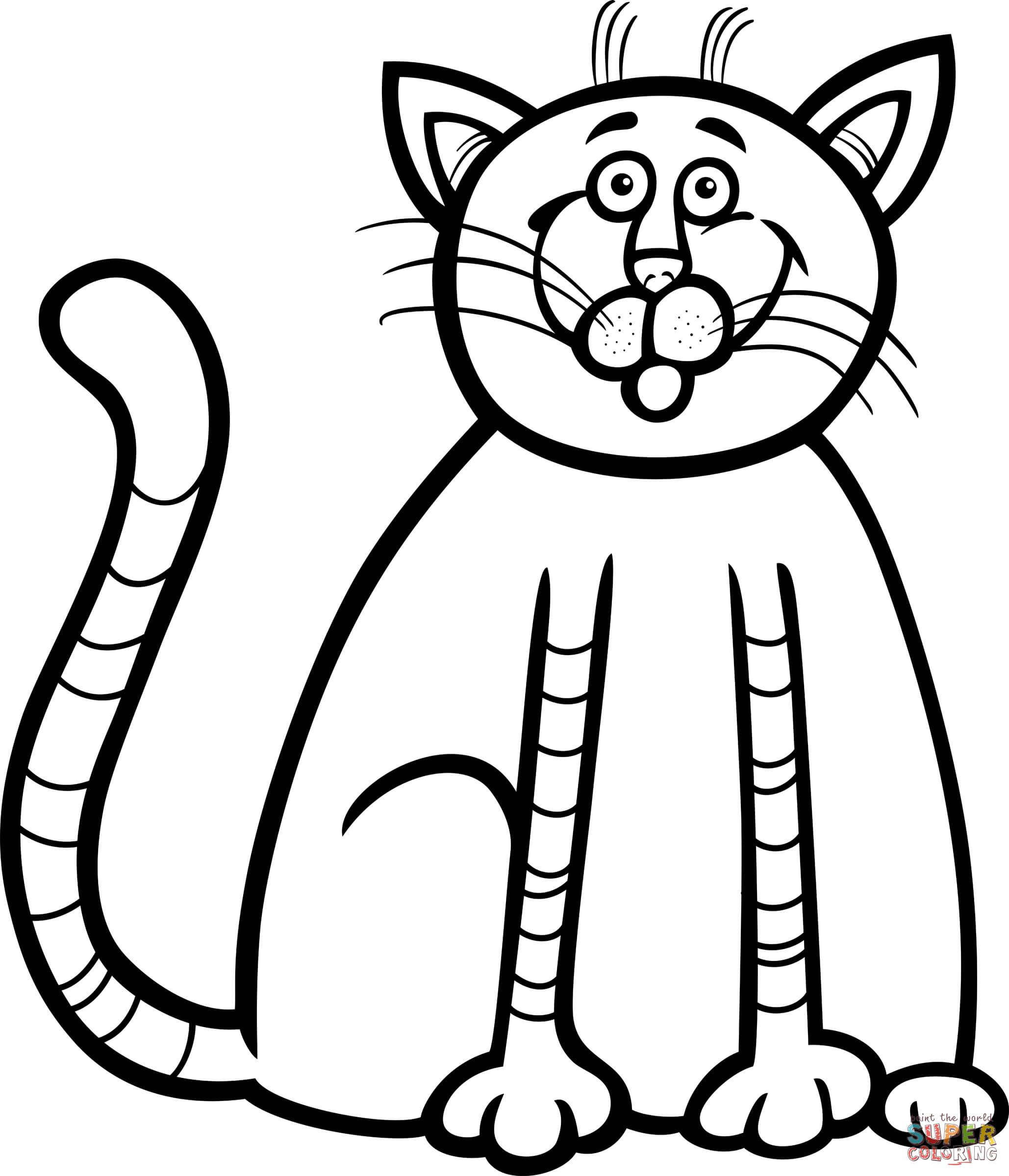 Peach Kleurplaat Dibujos De Gato Para Colorear Dibujosonline Net