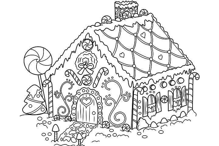 Dibujos de Casa De Caramelo para Colorear, Pintar e Imprimir ...