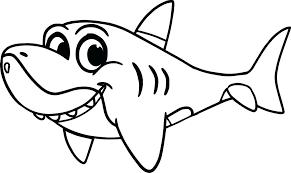 Dibujos De Tiburón Para Colorear Dibujosonlinenet