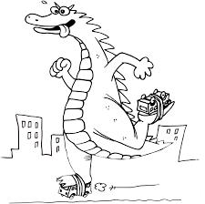 Dibujos De Divertida Godzilla Para Colorear Pintar E