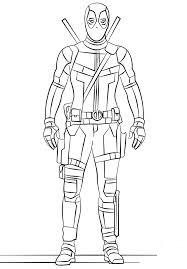 Dibujos De Deadpool Para Colorear Dibujosonlinenet
