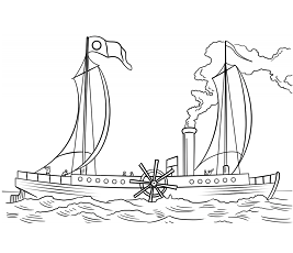 Dibujos de North River Steamboat