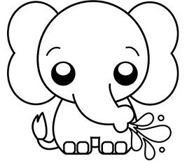 Dibujos De Elefante Para Colorear Dibujosonlinenet