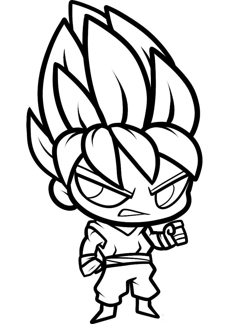 Dibujos De Goku Para Colorear Dibujosonlinenet