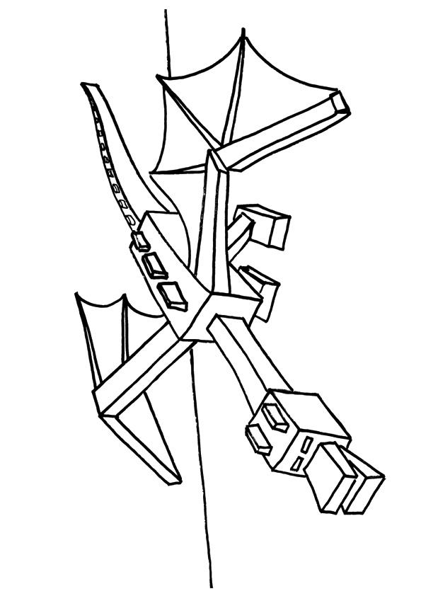 Dibujos de Minecraft Ender Dragón para Colorear, Pintar e Imprimir ...