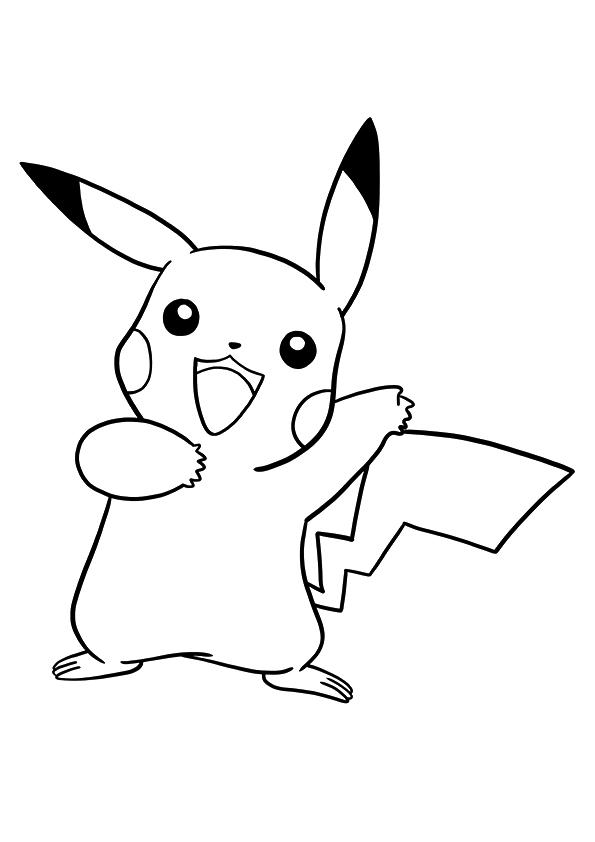 Dibujos de Pokemon Pikachu para Colorear, Pintar e Imprimir ...
