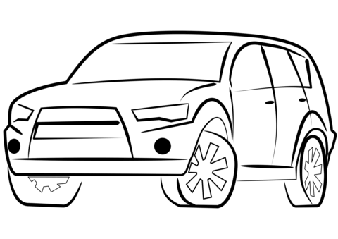 Click to see printable version of SUV Coche Coloring page