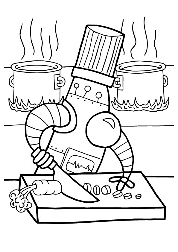 Dibujos De Robot De Cocina Para Colorear Pintar E Imprimir
