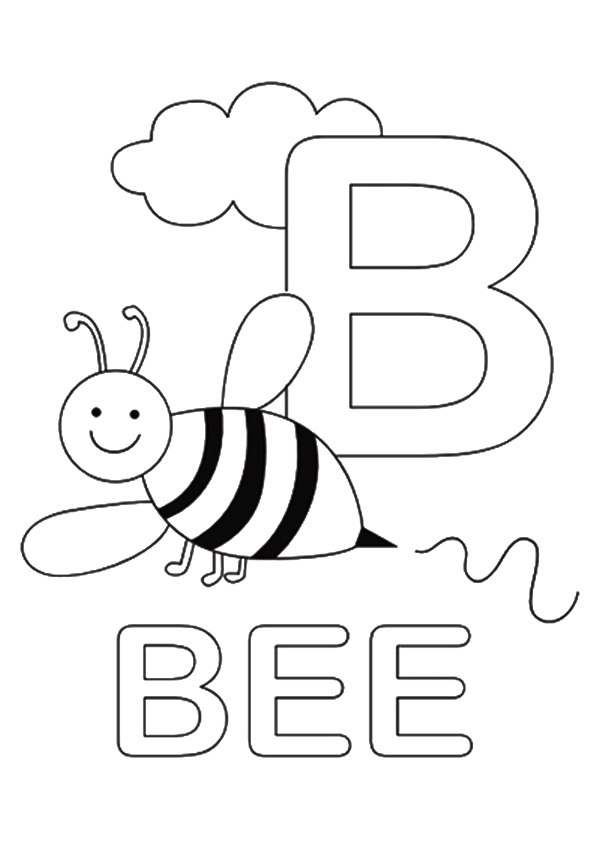 Click to see printable version of Bumble Bee Carta B Coloring page