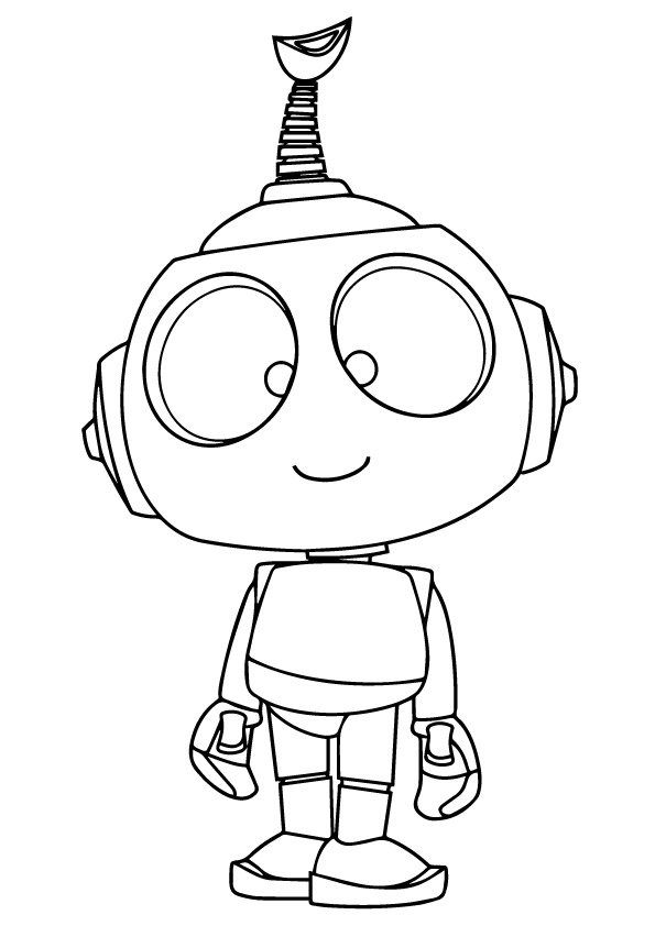 Click to see printable version of Robot Rob Coloring page