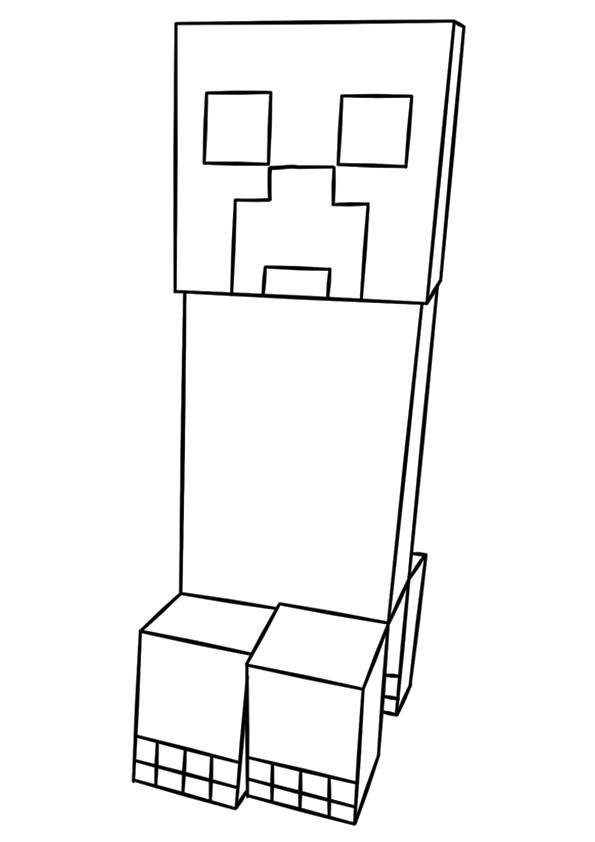 Dibujos De Minecraft Creeper Para Colorear Pintar E Imprimir