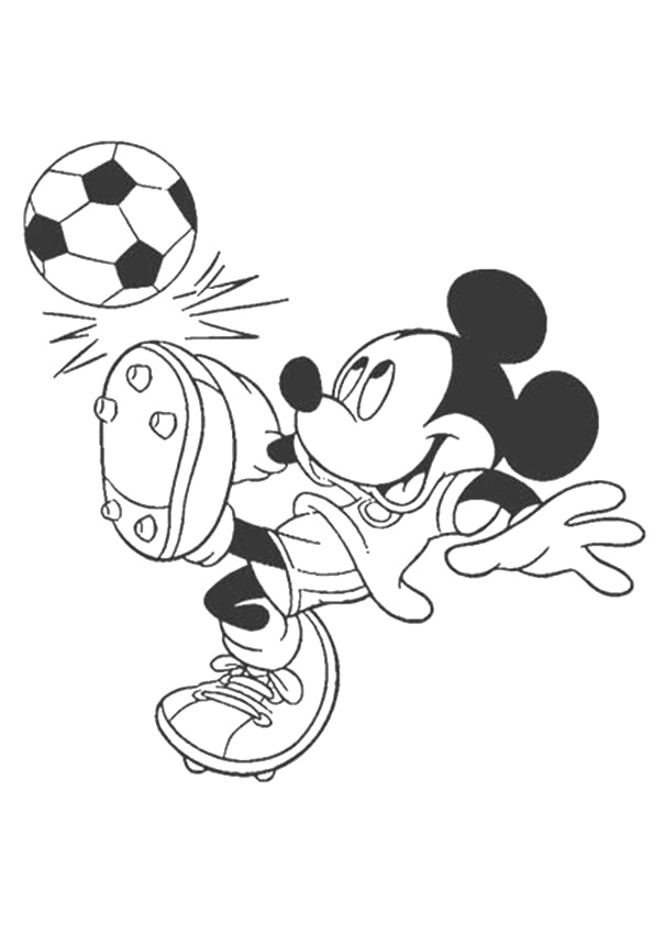 Click to see printable version of Mickey Mouse Jugando Fútbol Coloring page