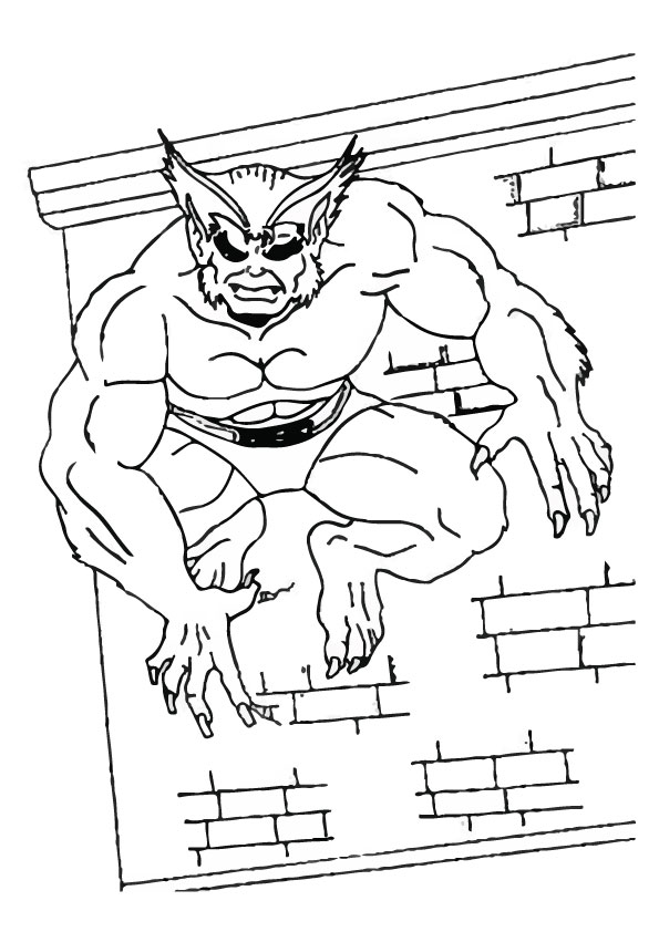 X Men Coloring Pages Beast