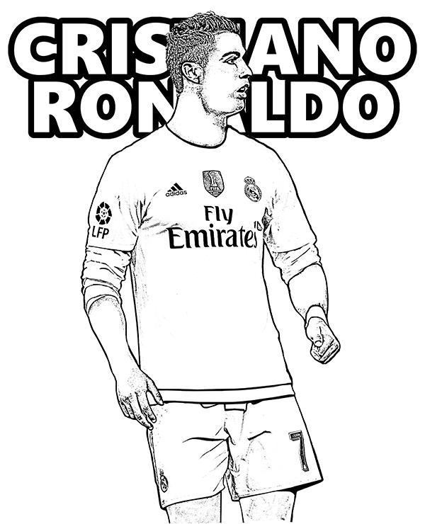Dibujos De Cristiano Ronaldo Para Colorear Pintar E Imprimir