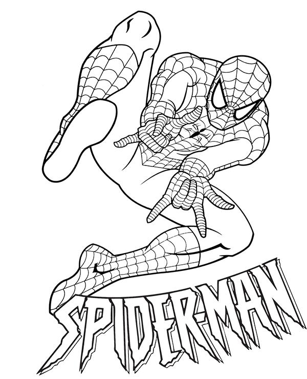 Dibujos De Spiderman Ataque Para Colorear, Pintar E
