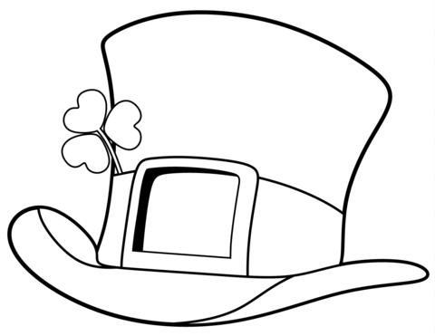 Dibujos de Sombrero del Día de San Patricio para Colorear, Pintar e ...