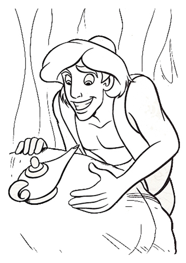 Click to see printable version of Aladdin Coloring page