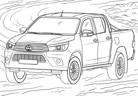 Dibujos de Toyota Hilux para Colorear