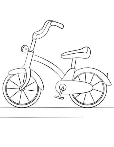 Dibujos de Bicicleta Para Niños para Colorear, Pintar e Imprimir ...