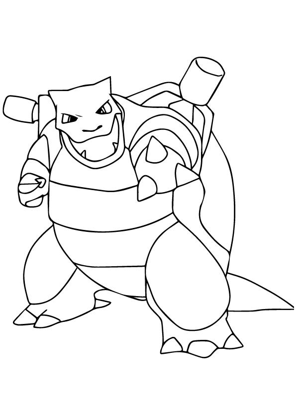 Dibujos de Blastoise de Pokemon para Colorear, Pintar e Imprimir ...