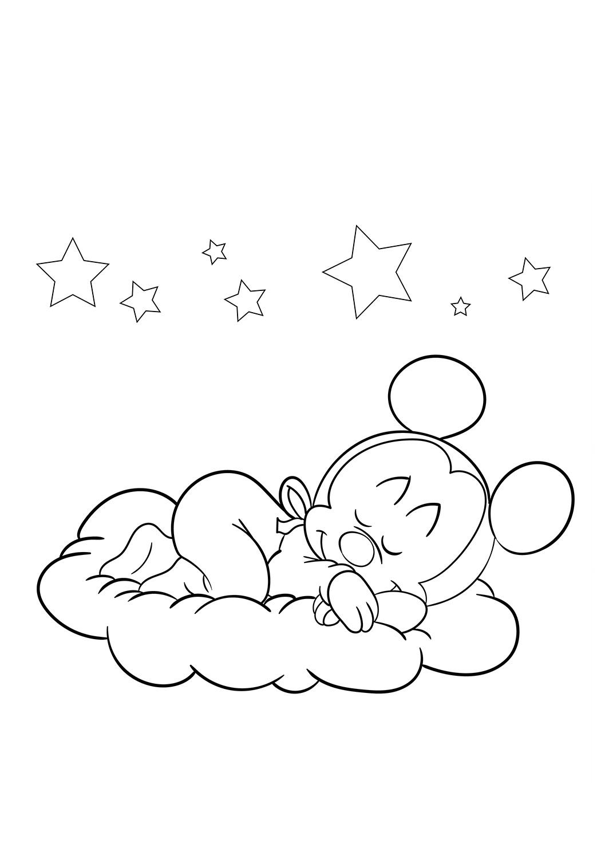 Dibujos De Mickey Mouse Durmiendo Para Colorear Pintar E Imprimir