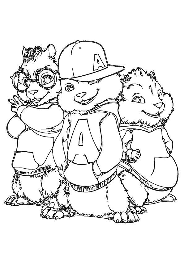 Dibujos de Simon, Alvin y Theodore para Colorear, Pintar e Imprimir ...