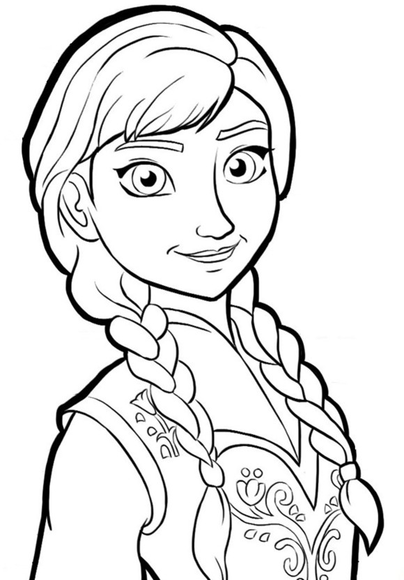 Click to see printable version of Anna Feliz Coloring page