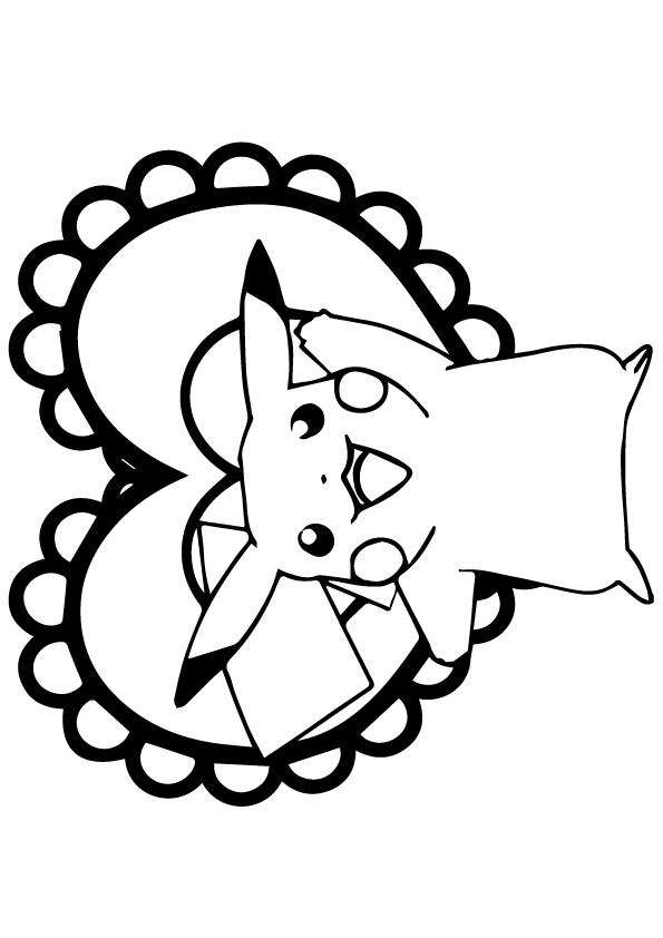 Dibujos de Pikachu Con Heart para Colorear, Pintar e Imprimir ...