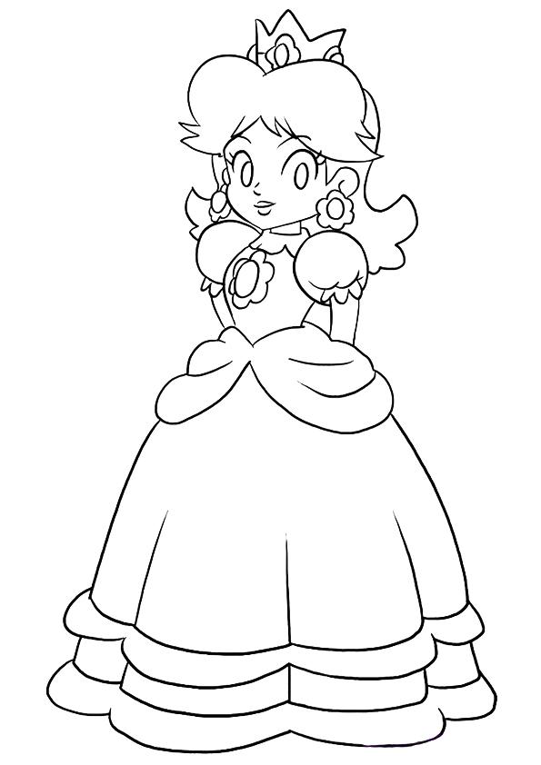 Dibujos De Princesa Peach Para Colorear Pintar E Imprimir
