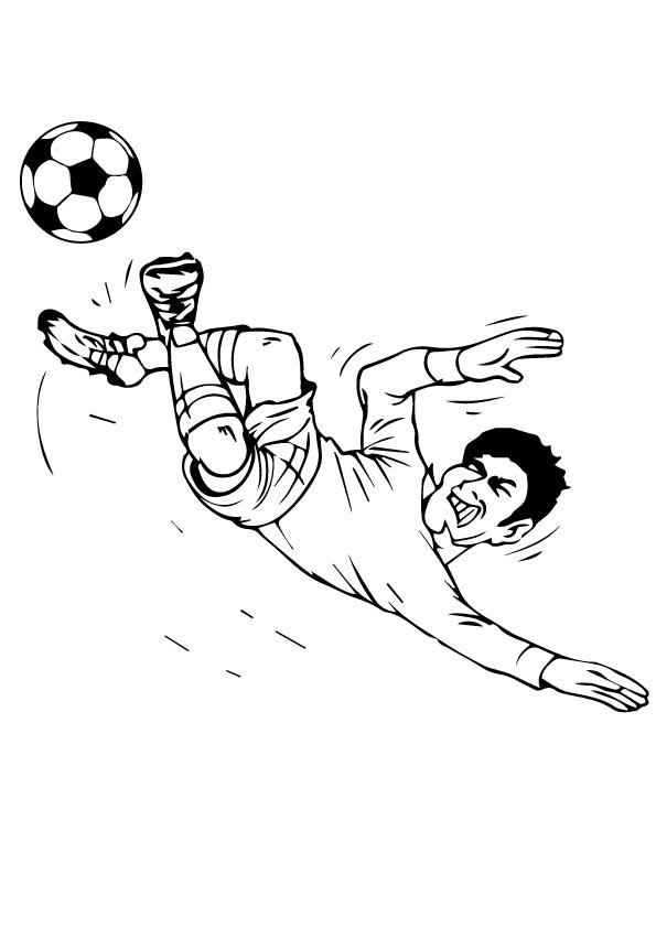 Dibujos De Jugador De Fútbol Pateando La Pelota Para
