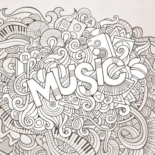 Dibujos de Música para Colorear, Pintar e Imprimir - DibujosOnline.Net