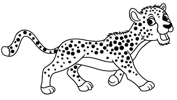 Dibujos de Guepardo de Dibujos Animados para Colorear, Pintar e ...