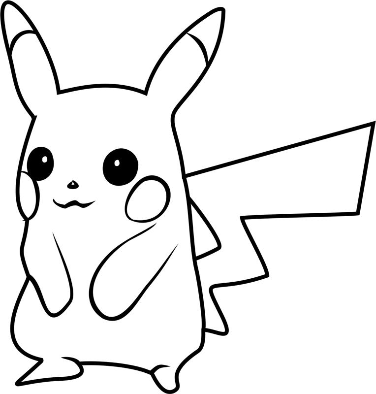 Dibujos de Pikachu Pokemon GO para Colorear, Pintar e Imprimir ...