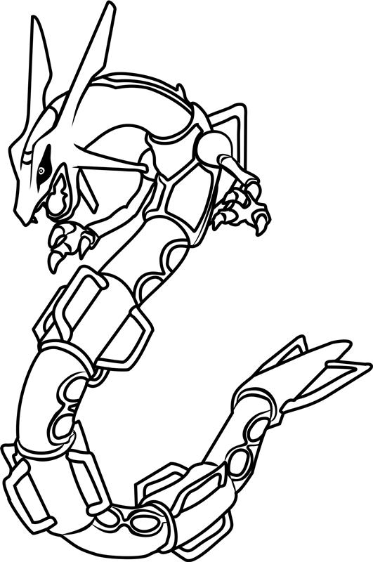 Dibujos de Rayquaza Pokemon para