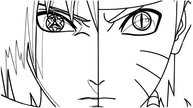 Dibujos De Naruto Y Sasuke Para Colorear Pintar E Imprimir