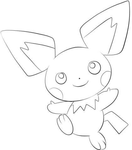 Dibujos de Pichu Pokemon para Colorear, Pintar e Imprimir ...