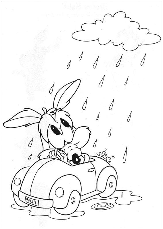 Dibujos de Bebé Wile E. En La Lluvia para Colorear, Pintar e ...