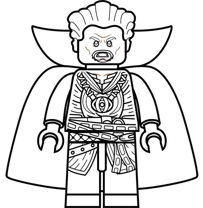 Dibujos de Lego Doctor Strange para Colorear, Pintar e Imprimir ...