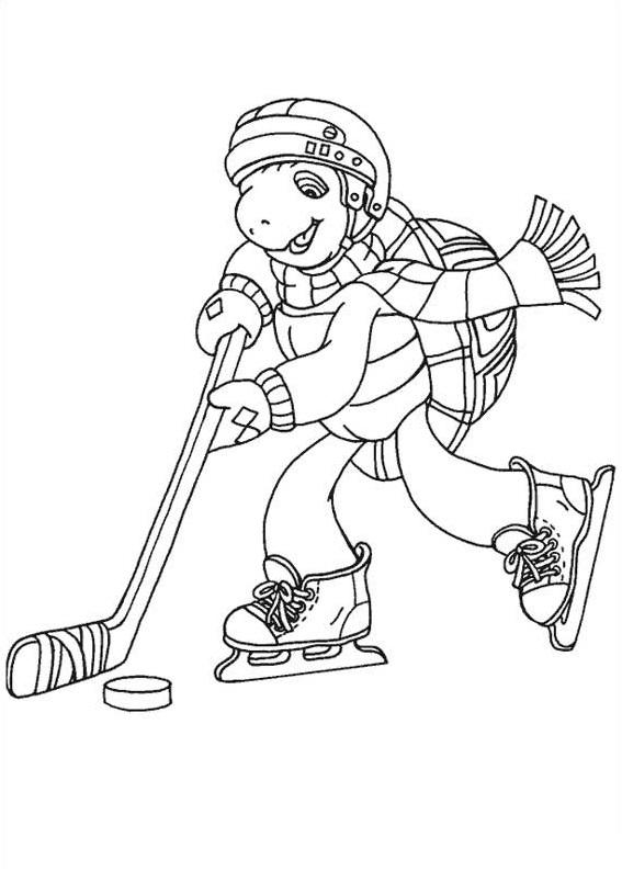 Dibujos de Franklin Jugando Hockey para Colorear, Pintar e Imprimir ...