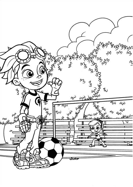 Dibujos de Rusty Jugando Fútbol para Colorear, Pintar e Imprimir ...