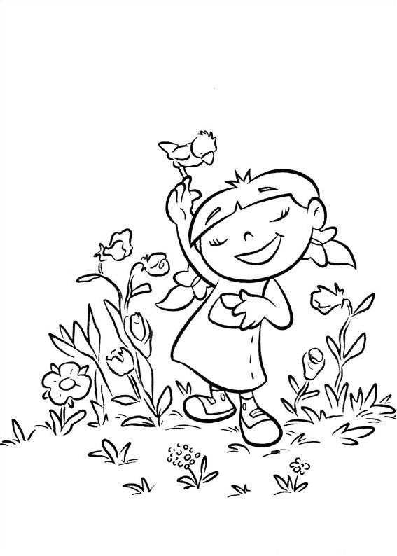 Dibujos de Annie Con Pájaro para Colorear, Pintar e Imprimir ...