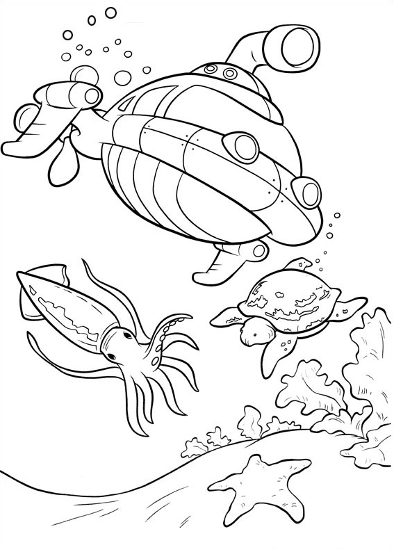 Dibujos de Rocket Bajo El Agua para Colorear, Pintar e Imprimir ...